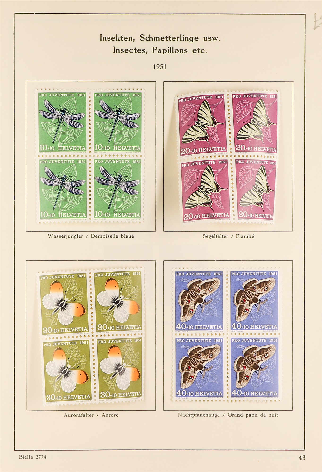 SWITZERLAND 1913-57 PRO JUVENTUTE collection of fine mint/never hinged blocks of four, S.T.C. £1580. - Image 6 of 8