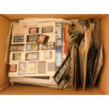 COLLECTIONS & ACCUMULATIONS WORLD miscellany in four boxes, with masses of unsorted loose in