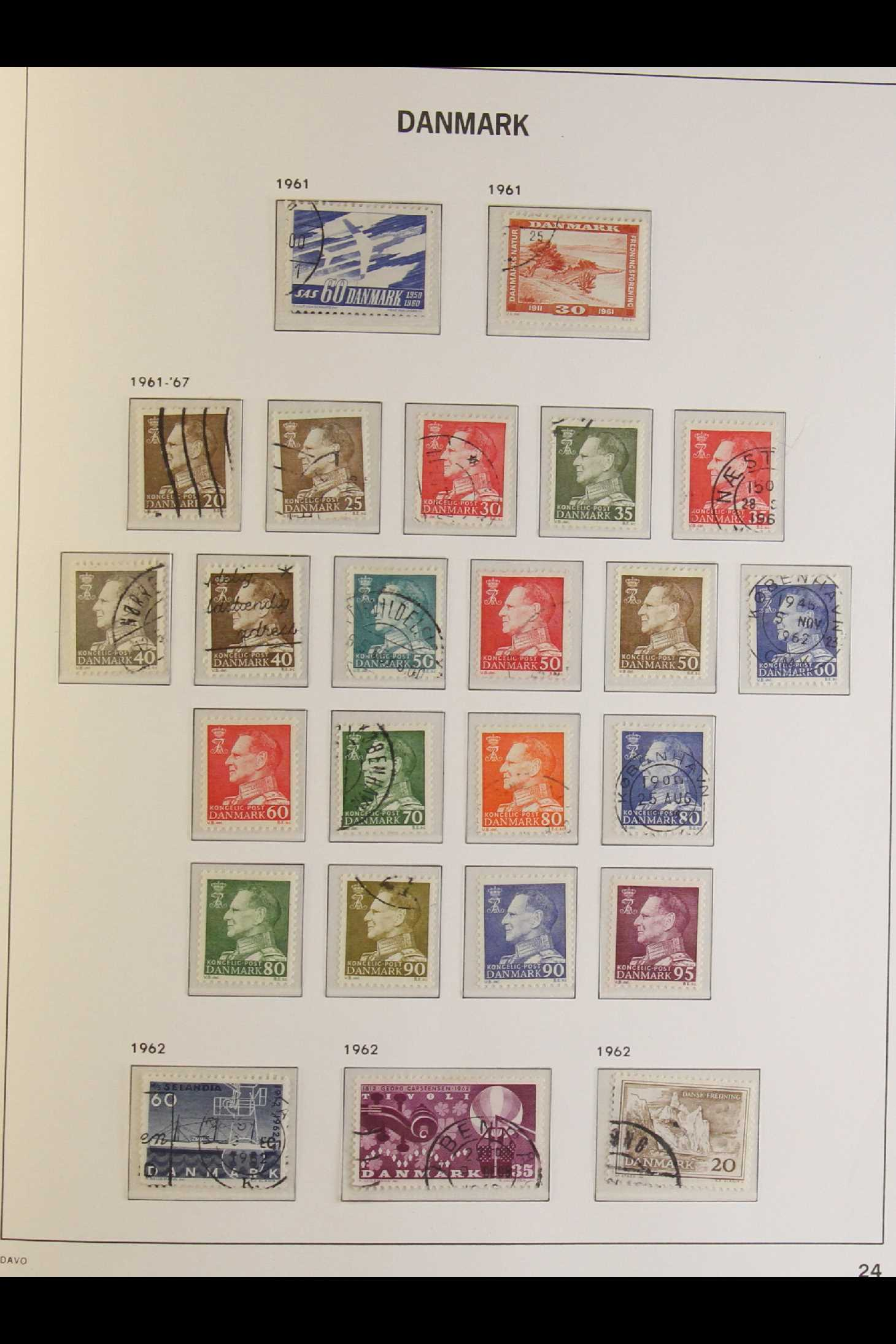 DENMARK 1882-1969 mint and used collection in an album incl. 1882 (small corner figures) 5 ore and - Image 11 of 15
