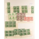 GREAT BRITAIN QV TO KGVI SPECIALISTS ACCUMULATION in a small box with items on stock cards and