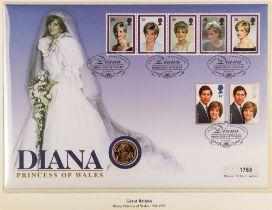 GOLD SOVEREIGN 1981 encapsulated on Princess Diana souvenir cover.