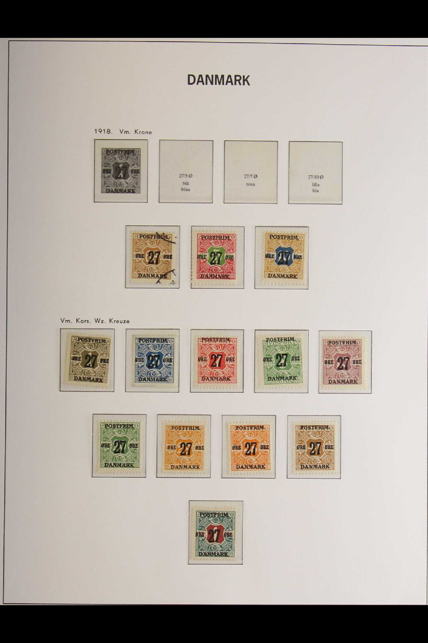 DENMARK 1882-1969 mint and used collection in an album incl. 1882 (small corner figures) 5 ore and - Image 15 of 15