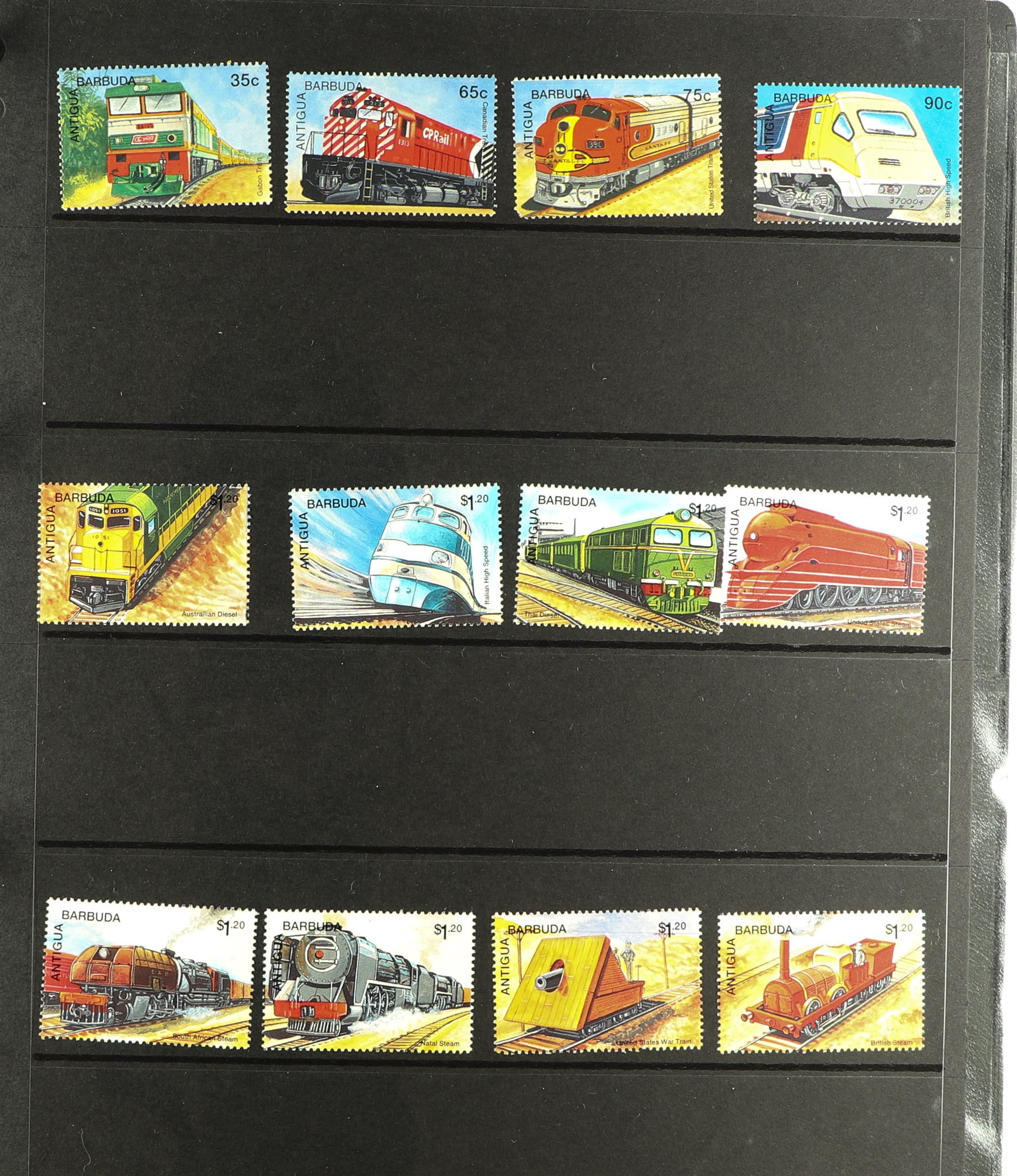 COLLECTIONS & ACCUMULATIONS RAILWAY & TRAINS ON STAMPS TOPICAL COLLECTION in six albums, early to - Image 5 of 7