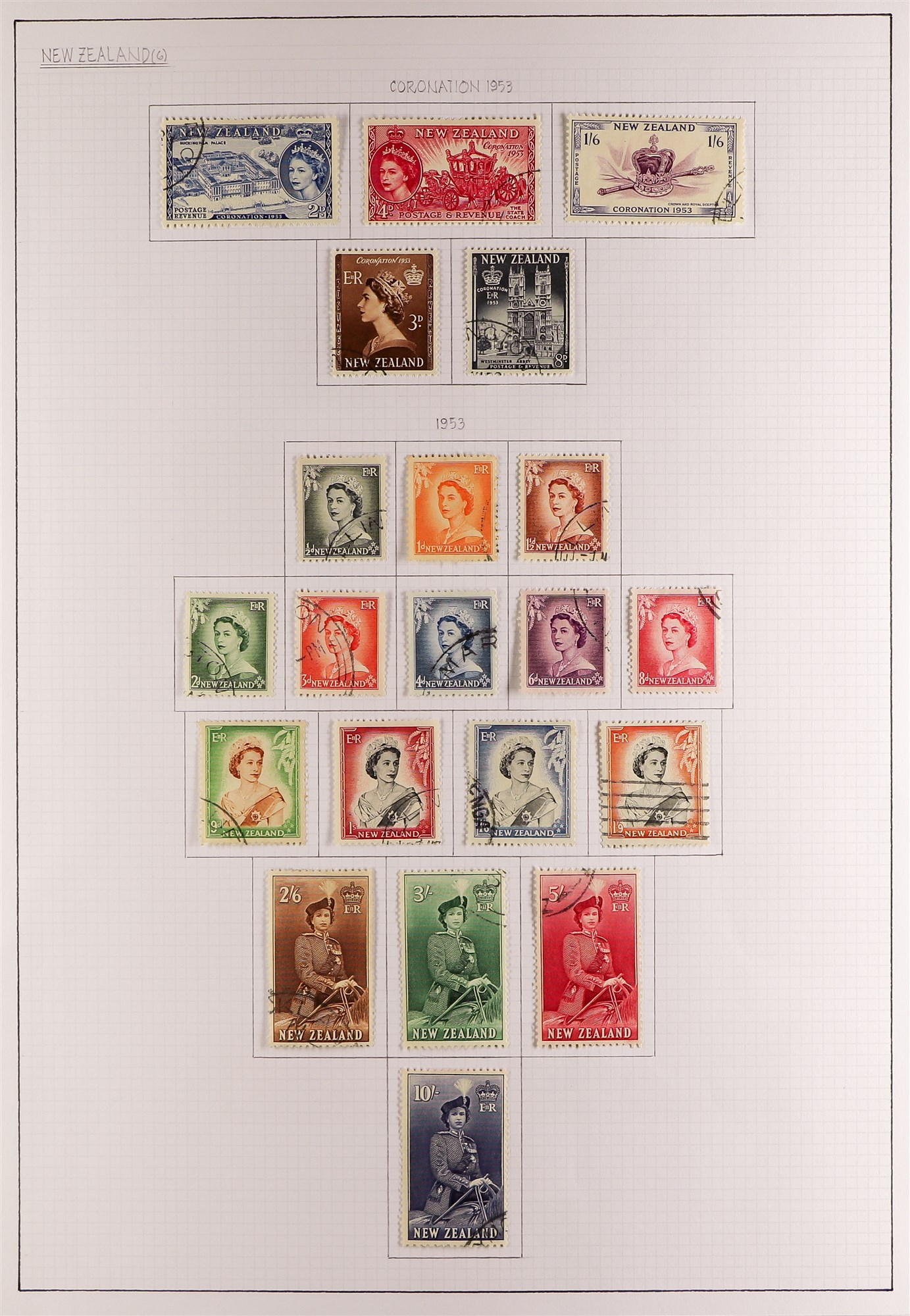 """NEW ZEALAND QV-1990'S USED COLLECTION includes 1929 1d Anti-TB, 1934 7d """"Trans-Tasman"""" opt, 1935 - Image 6 of 8"""