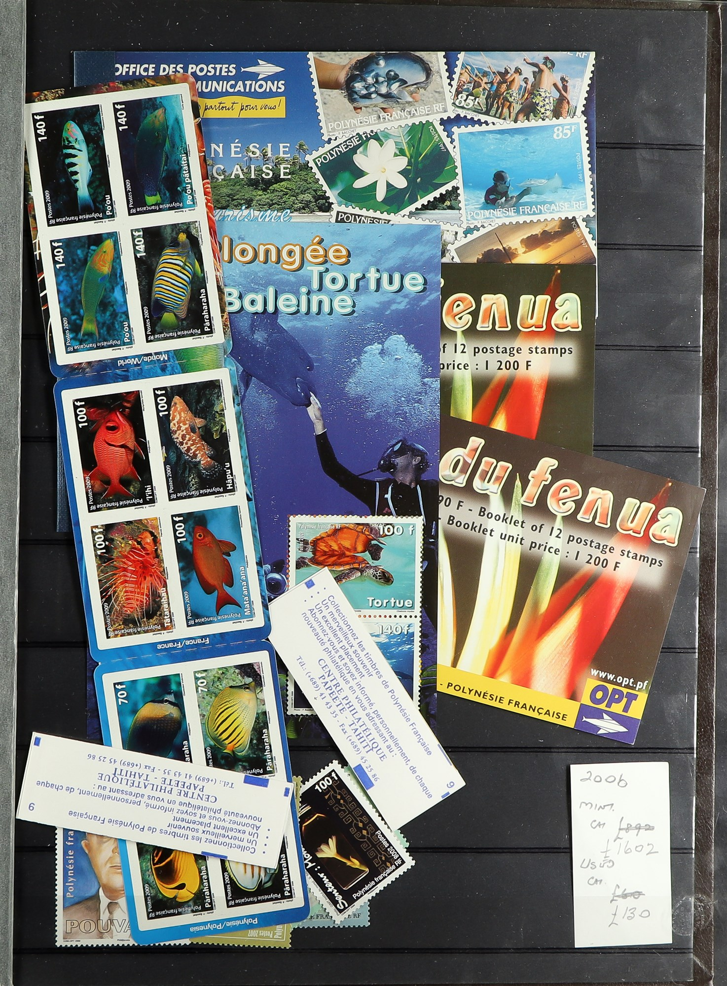 FRENCH COLONIES POLYNESIA 1948-2009 mint, largely never hinged collection, incl. few imperfs, - Image 7 of 9
