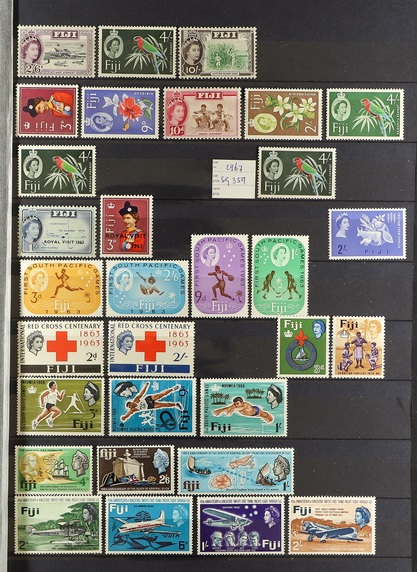 FIJI 1903-70 FINE MINT COLLECTION incl. 1903 set to 5d (excl. ½d), 1904-09 ½d & 1d, 1906-12 to 2½ - Image 7 of 9