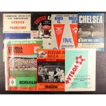 FOOTBALL PROGRAMMES - 'Foreign' selection. Well-over 200 programmes featuring 'foreign' clubs. The