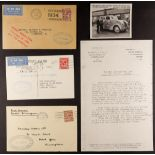 GREAT BRITAIN AIR MAIL COVERS - INTERNAL FLIGHTS: B.I.F. 1934 (19-20 Feb) covers or card showing