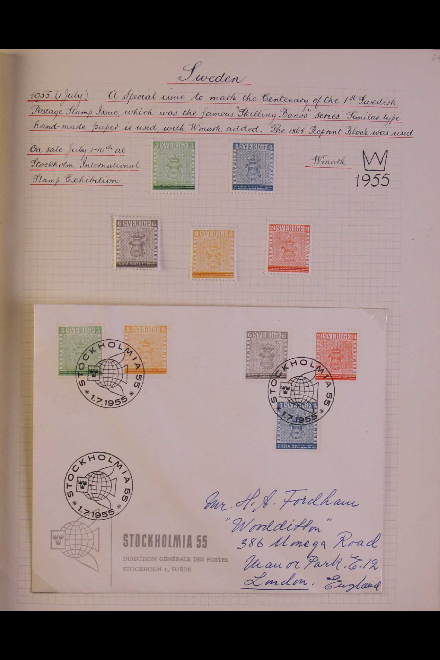 SWEDEN 1903-1966 USED COLLECTION incl. 1903 5k GPO, 1910-19 wmk Crown set, 1916 Landstorm surcharges - Image 10 of 12