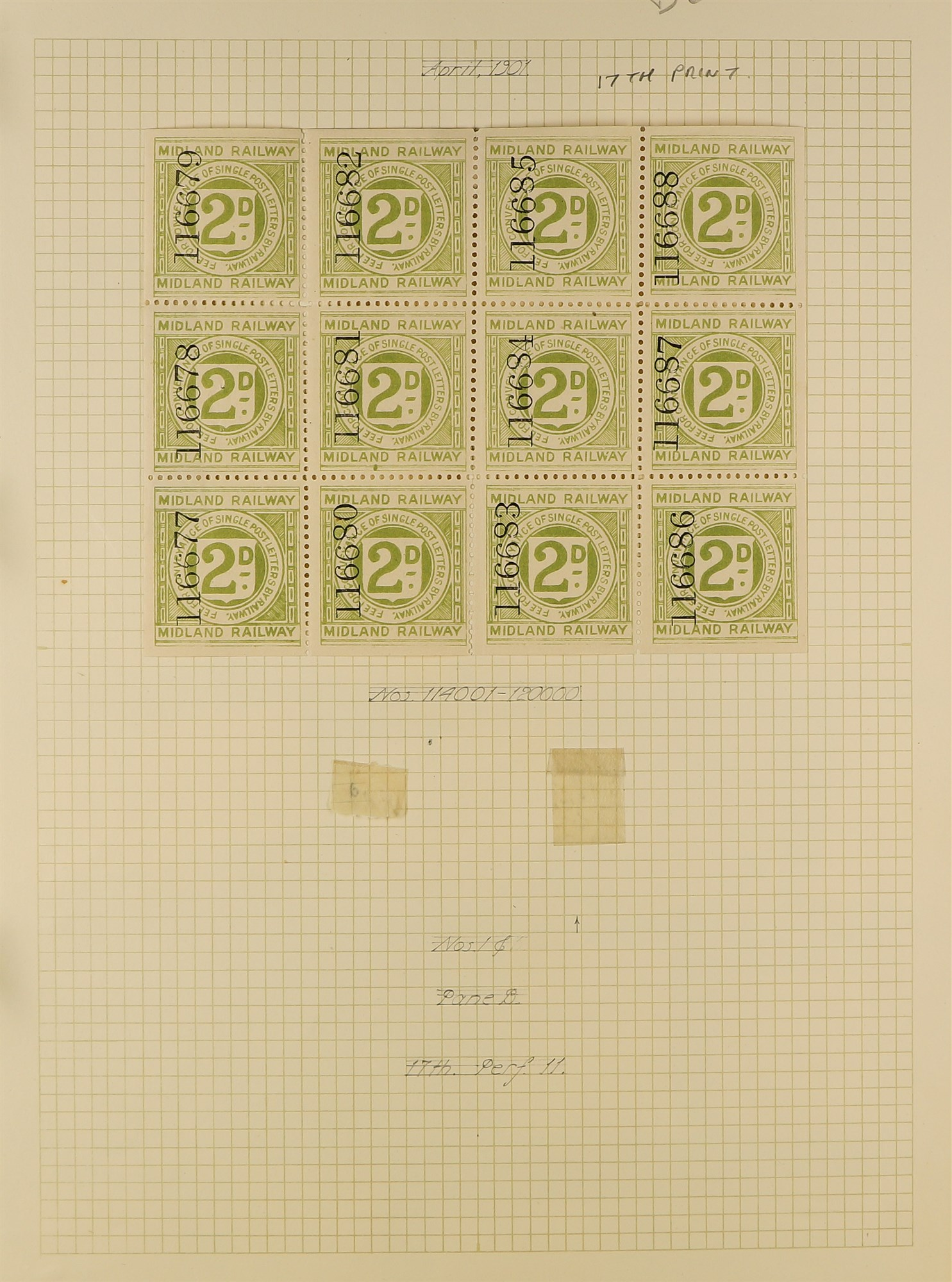 GREAT BRITAIN RAILWAY LETTER AND NEWSPAPER STAMPS 1890's-1940's COLLECTION in two albums, mint and - Image 11 of 24