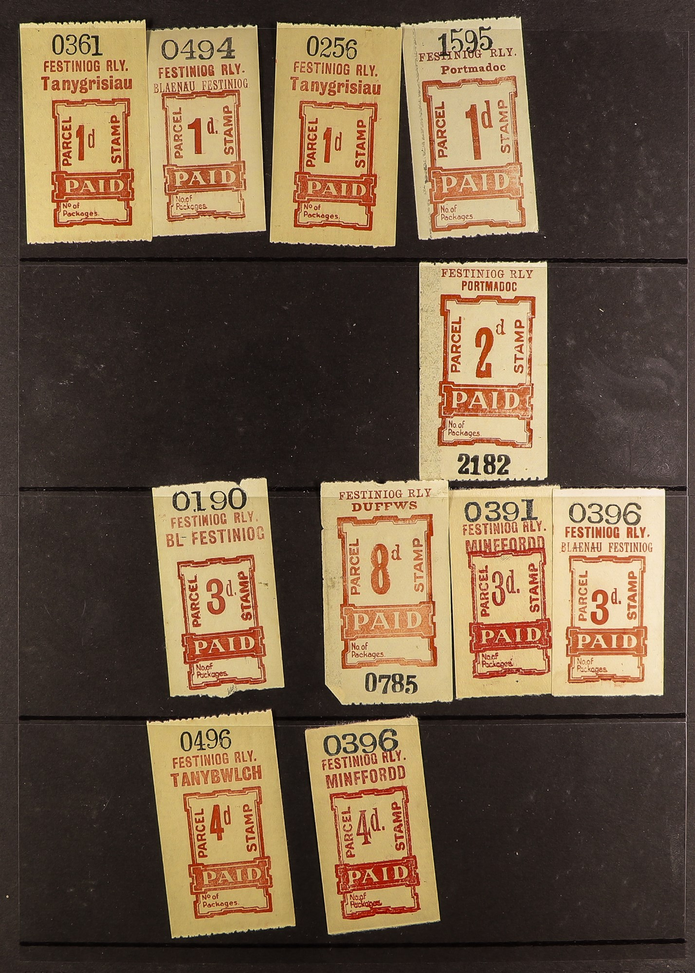 GREAT BRITAIN RAILWAY LETTER AND NEWSPAPER STAMPS 1890's-1940's COLLECTION in two albums, mint and - Image 18 of 24