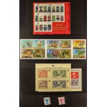 GB.ELIZABETH II RANDOM MINT SELECTION which includes stamps on stockcards, commemorative and