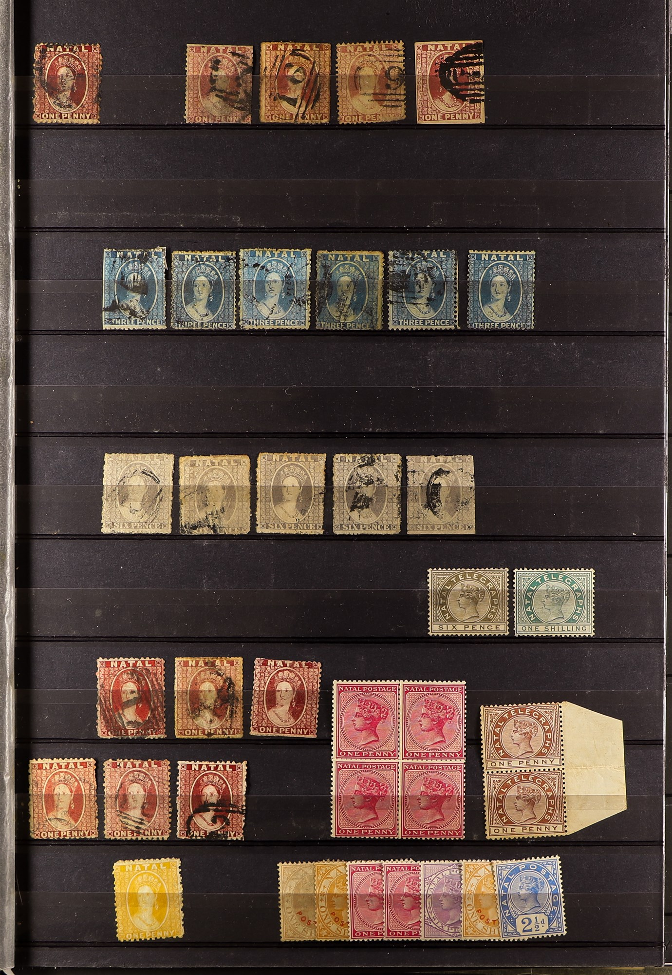 SOUTH AFRICA -COLS & REPS NATAL 1859-1899 collection with values to 5s (mostly used), 1860 rough - Image 2 of 4