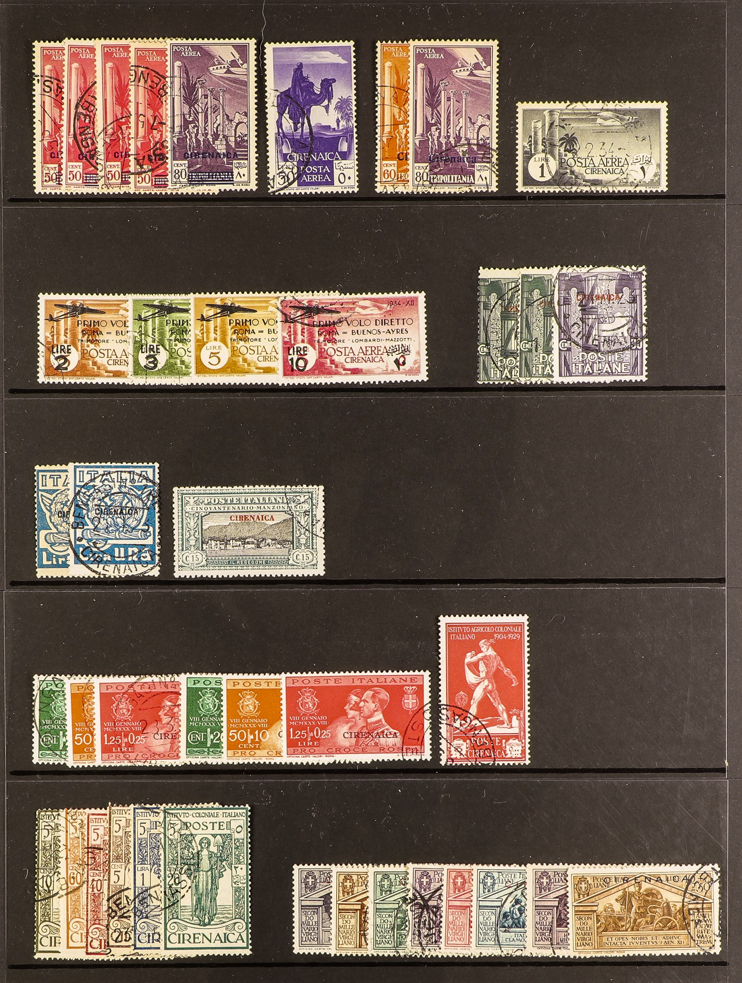 ITALIAN COLONIES CIRENAICA 111923-34 Fine used collection with complete sets and better items - Image 2 of 2