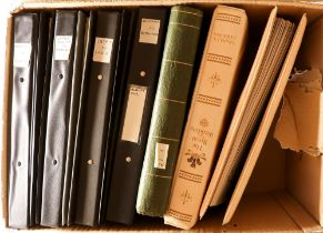 COLLECTIONS & ACCUMULATIONS WORLD COLLECTION in eight volumes with useful mint and used incl. ranges