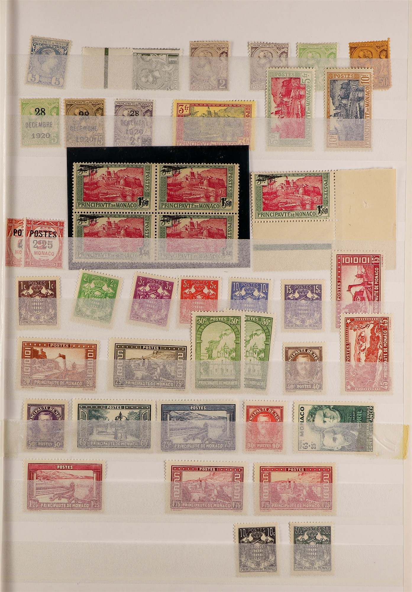 MONACO 1885-2003 MINT COLLECTION with value in the modern never hinged mint issues, note 1924-33