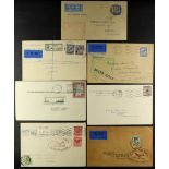 """IRELAND AIRMAIL COVERS 1928-29 with 1928 Flying Boat """"Calcutta"""" (24 Sept) Liverpool to Belfast"""