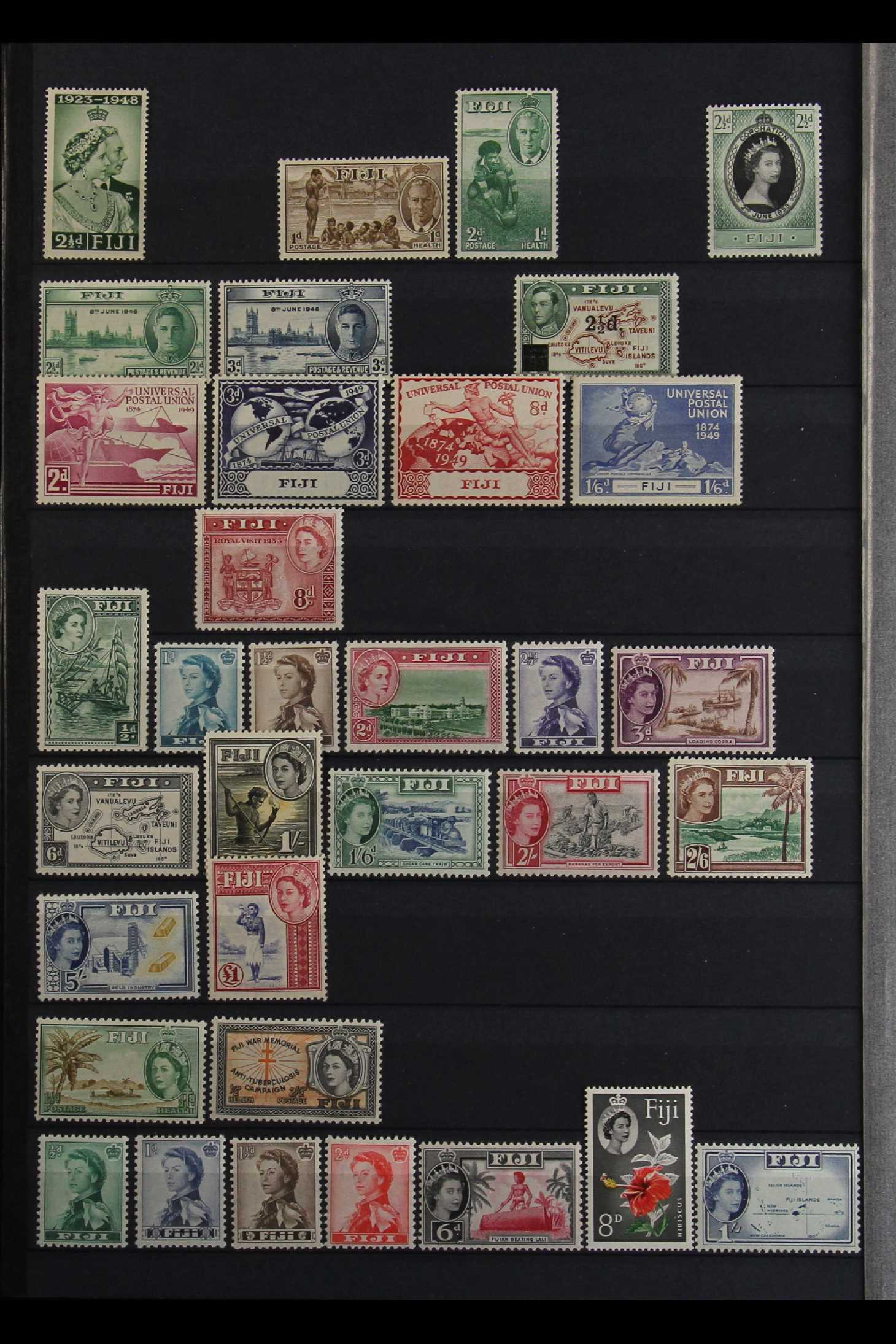 FIJI 1903-70 FINE MINT COLLECTION incl. 1903 set to 5d (excl. ½d), 1904-09 ½d & 1d, 1906-12 to 2½ - Image 4 of 9