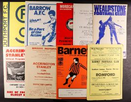 FOOTBALL PROGRAMMES - EX LEAGUE IN NON LEAGUE. Wide range of clubs from 1960s to 2015. Mainly 1990s