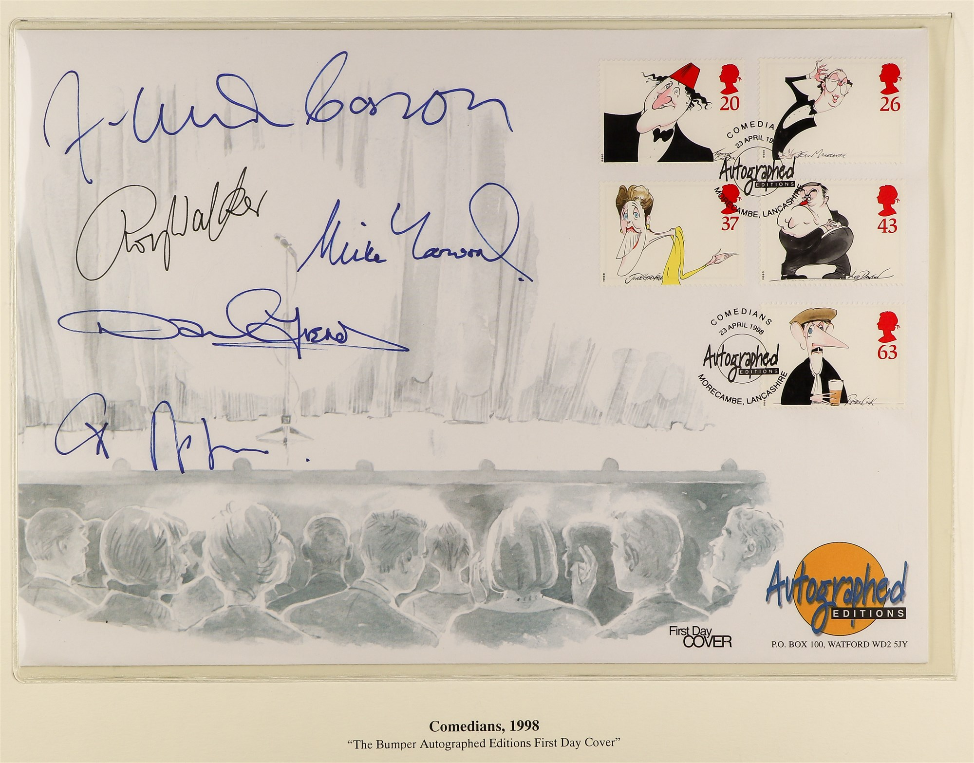 GREAT BRITAIN 1997-98 AUTOGRAPHED COVERS - COMEDIANS 1997 Enid Blyton FDC with illustration of and - Image 3 of 3