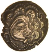 Tent Type. Osismii.c.80-60 BC. Celtic base gold quarter stater. 13mm. 1.31g.