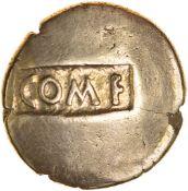 Tincomarus Native Warrior ComF/Tinc. Regini & Atre. c.25BC-AD10. Celtic gold stater. 17mm. 5.35g.