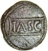 Tasciovanos Cavalryman. Catuvellauni. c.25BC-AD10. Celtic silver unit. 13mm. 1.21g.