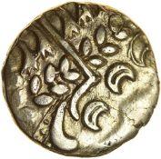 Chute. Sills class 1b.Belgae. c.54-53 BC. Celtic gold stater. 17mm 6.22g.