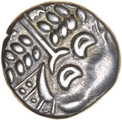 Cranborne Chase. Durotriges. c.58-40 BC. Celtic silver stater, prob with a little gold. 18mm. 5.77g.