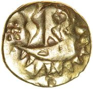 Duro Boat Gold. Durotriges. c.50-30 BC. Celtc gold quarter stater. 11mm. 1.48g.