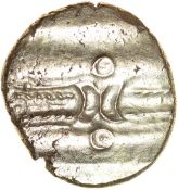 Dubnovellaunos Early. Sills class 1. Trinovantes. c.5BC-AD10. Celtic gold stater. 15-17mm. 5.52g.