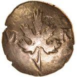 Verica Vine Leaf Viri. Regini & Atrebates. c.AD10-40. Celtic gold stater. 16mm. 5.28g.