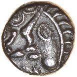 Commios Ladder Head. Lazy E Type. Regini & Atrebates. c.50-25 BC. Celtic silver unit. 10mm. 1.14g.