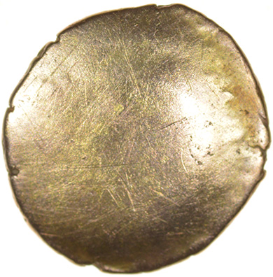 Corded Triangle. X-Box Type. Cantiaci. c.50-40 BC. Celtic gold quarter stater. 12mm. 1.26g. - Image 2 of 2