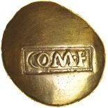 Verica Warrior Rex. Regini & Atrebates. c.AD 10-40. Celtic gold stater. 17mm. 5.30g.