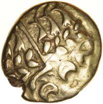 Chute. Sills class 1b. Belgae. c.54-53 BC. Celtic gold stater. 16-18mm. 6.02g.