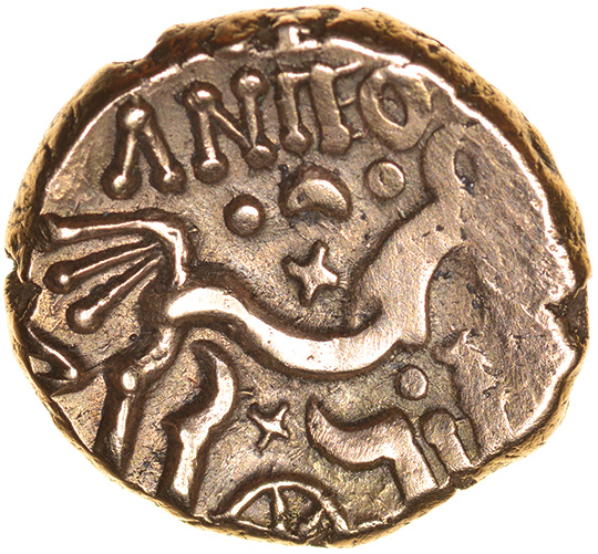Anted Rig. Dobunni. c.AD20-43? Celtic gold stater. 16mm. 5.27g. - Image 2 of 2