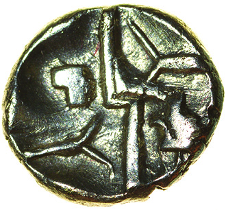 Duro Boat Gold. Durotriges. c.50-30 BC. Celtic gold quarter stater. 11mm. 1.42g. - Image 2 of 2
