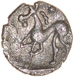 Corn Ear Quatrefoil. Iceni. c.AD 10-20. Celtic silver half unit. 10mm. 0.49g. - Image 2 of 2