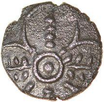 Corn Ear Quatrefoil. Iceni. c.AD 10-20. Celtic silver half unit. 10mm. 0.49g.