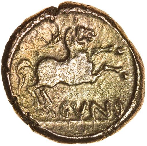 Cunobelinus Classic. Stalk Type. Catuvellauni & Trino. c.AD 8-41. Celtic gold stater. 17mm. 5.44g. - Image 2 of 2