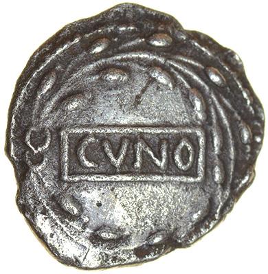 Cunobelinus Pegasus Right. Catuvellauni & Trinovantes. c.AD8-41. Celtic silver unit. 13mm. 1.28g.