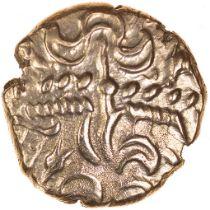 Tincomarus Alfriston. Regini & Atrebates. c.25BC-AD10. Celtic gold stater. 17mm. 5.41g.