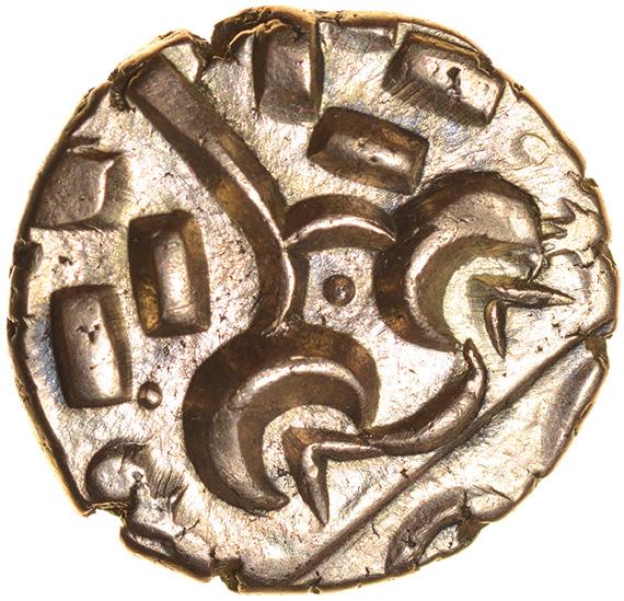Sunflower. Corieltavi. c.45-10 BC. Celtic gold stater. 18mm. 5.60g.