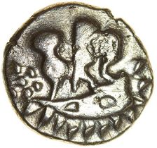 Duro Boat Gold. Durotriges. c.50-30 BC. Celtic gold quarter stater. 11mm. 1.42g.