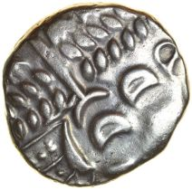 Cranborne Chase. Durotriges. c.58-40 BC. Celtic silver stater. 17-19mm. 5.36g.