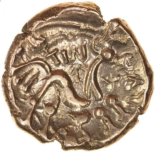 Tincomarus Alfriston. Regini & Atrebates. c.25BC-AD10. Celtic gold stater. 17mm. 5.41g. - Image 2 of 2