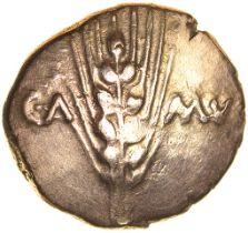 Cunobelinus Classic. Stalk Type. Catuvellauni & Trino. c.AD 8-41. Celtic gold stater. 17mm. 5.44g.