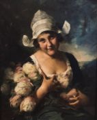 Mozart ROTTMANN 1874-1958 Girl with a bouquet of roses