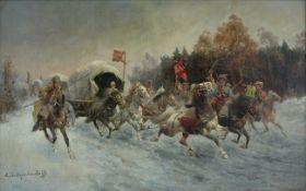 Adolf Baumgartner - Stoiloff 1850-1924 RUSSIAN COSSACKS